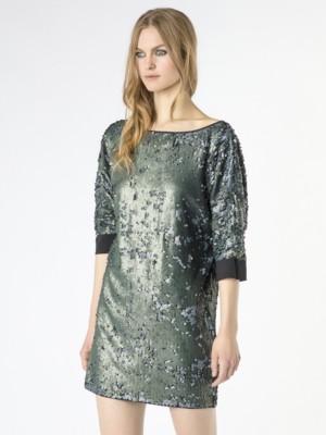 Patrizia Pepe - Платье с двухцветными пайетками по всей поверхности