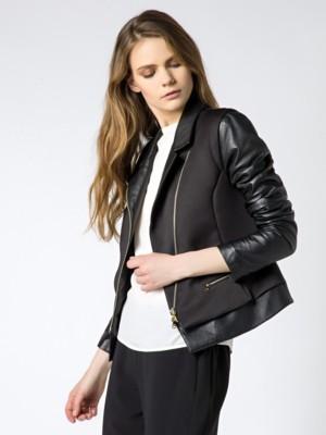 Patrizia Pepe - Кожаная куртка со вставками из технической ткани