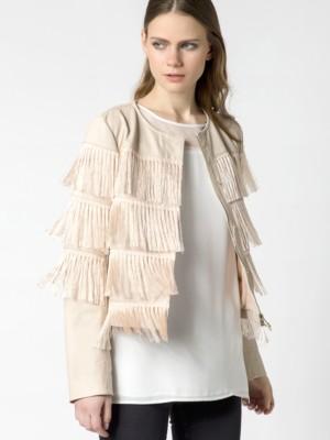 Patrizia Pepe - Куртка с бахромой из наппы ягненка