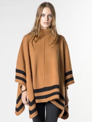 Patrizia Pepe - Трикотажное пальто-пончо из шерсти и кашемира