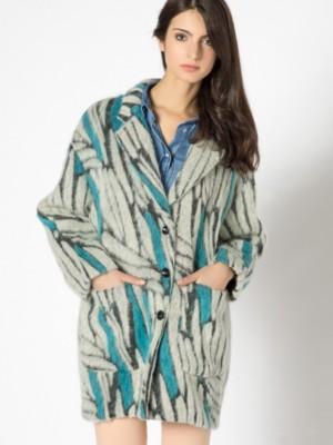 Patrizia Pepe - Широкое пальто свободного кроя из ткани смешанного состава с мохером и альпакой