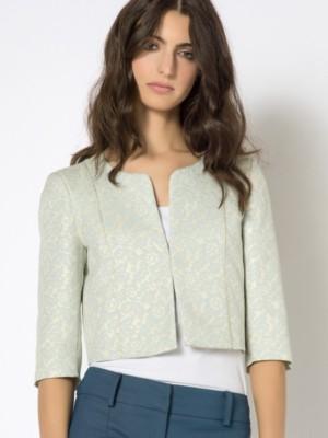 Patrizia Pepe - Короткий пиджак из жаккардовой ткани с рисунком, с люрексом