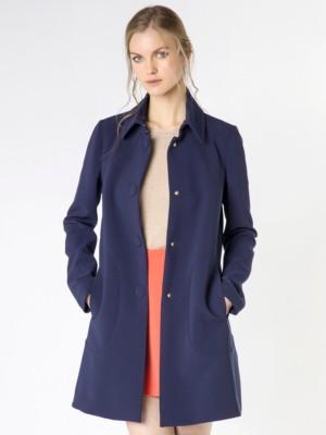 Patrizia Pepe - Пальто на пуговицах из вискозного крепа стрейч