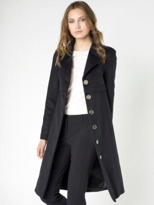 Patrizia Pepe - Однобортное длинное пальто из шерстяного сукна и кашемира