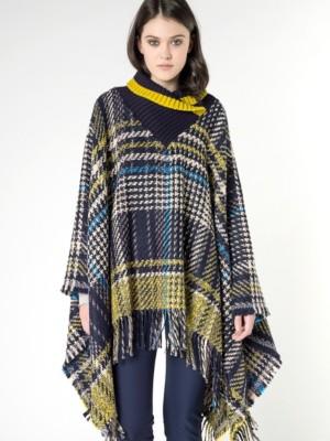 Patrizia Pepe - Пальто-накидка из ткани с рисунком с бахромой