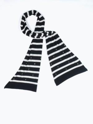 Patrizia Pepe - Длинный трикотажный шарф с кашемиром со стразами