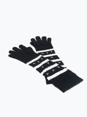 Patrizia Pepe - Трикотажные перчатки с кашемиром со стразами